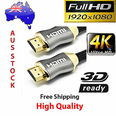Ultra Premium HDMI Cable Gold Plated V2.0 3D 4K HD High Speed Ethernet 1M ~20M