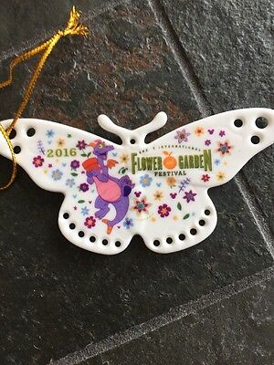 Disney Epcot Flower And Garden Festival 2016  Figment Ceramic Butterfly Ornament