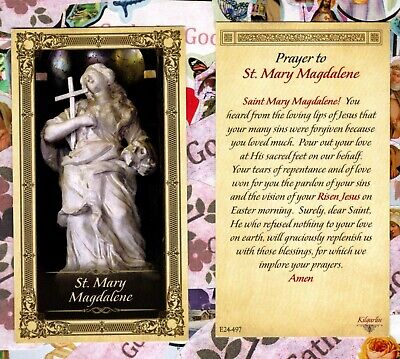 Saint Mary Magdalene with Prayer to St. Mary Magdalene - Paperstock Holy Card