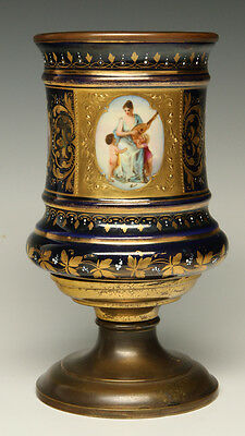 A 20Th C. Sevres Style Porcelain And Brass Urn