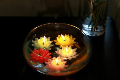 30 x Lotus Flower Candle 4 hourFloating 5 Ass Bulk Wholesale lot reduced to clea