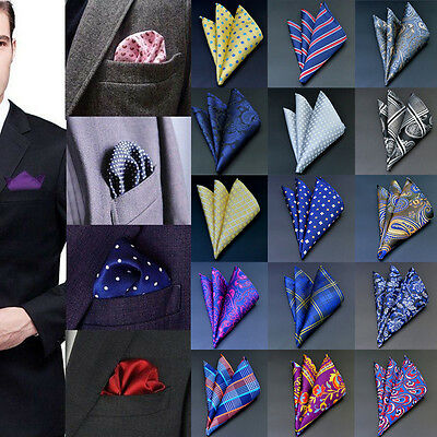 Men Pocket Square Handkerchief Korean Silk Paisley Floral Wedding Party lot