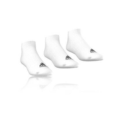 Adidas Performance No-Show T Womens White Trainer Anklet Sports Socks 3 Pack