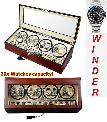 Luxury Display Automatic Watch Winder for 8 watches +12 : Grand Pluto-8CW12