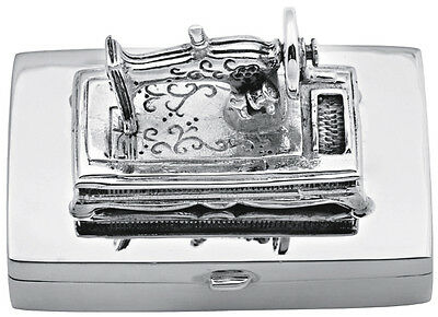 Sewing Machine Pillbox Sterling Silver 925 Hallmarked New From Ari D Norman