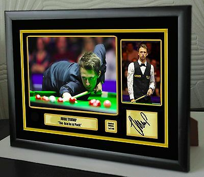"""Judd Trump World No 1 Champion Snooker Framed Canvas Print Signed.""""Great Gift"""""""