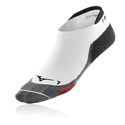 Mizuno Drylite Race Low Running Correr Calcetines Hombre Mujer Blanco