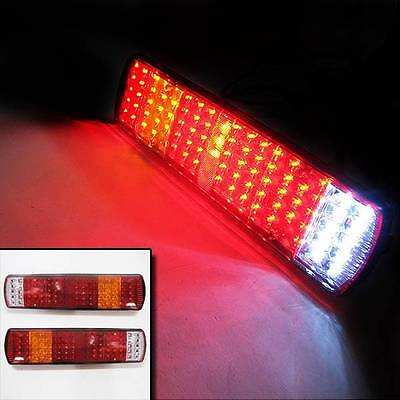 Led Rear Tail Lights Truck Lorry Trailer Fits Iveco Scania Volvo Daf Man 24v Set