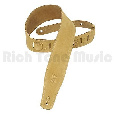 Levy's 2.5 Inch Suede Leather Guitar Strap - Tan