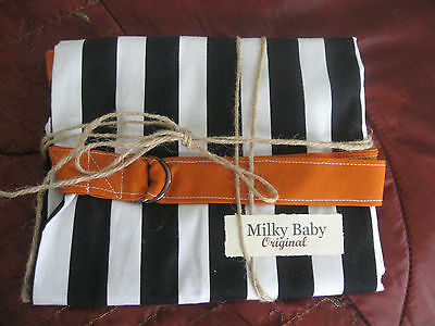 NEW  >NURSING COVER milky baby STRIPE  BREASTFEEDING COVER 42x27""