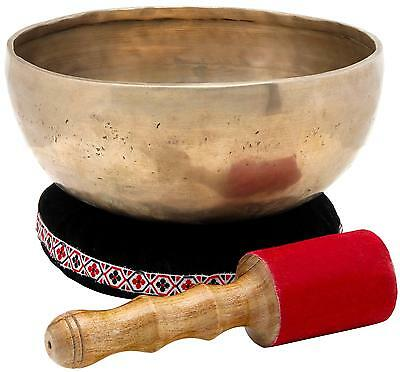 Bol De Chantant Percussion Tibetain Meditation 20Cm Baguette Coussinet 1200G Set