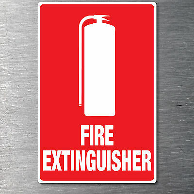 Fire Extinguisher sticker Quality water/fade proof 10 year vinyl oh&s