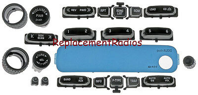 GM Delco CD6 radio knob & button set. Worn buttons? Solve it w/ these parts! CD