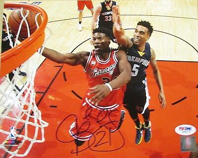 Psa/dna Jimmy Butler #21 Autographed Signed 8X10 Color Chicago Bulls Photo #4