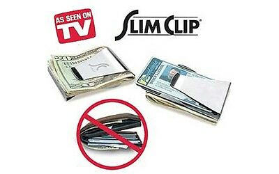 Slim Clip Ultra Slim Double Sided Money Clip Cash Credit Card Holder Wallet NEW