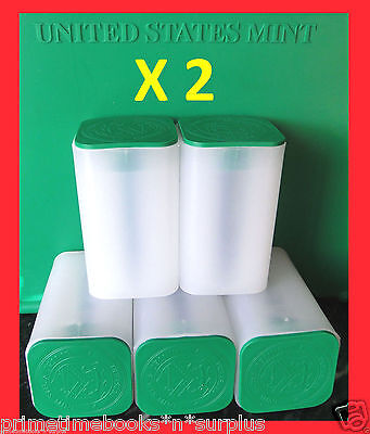 10 (TEN) *EMPTY* American Silver Eagle ASE 20 oz. Coin Tube MINT *FREE SHIPPING*