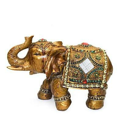 8' Feng Shui Elegant Elephant Trunk Statue Lucky Wealth Figurine Decor
