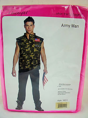 Sexy Army Man Halloween Costume Vest Size Small Seven Til Midnight #10211