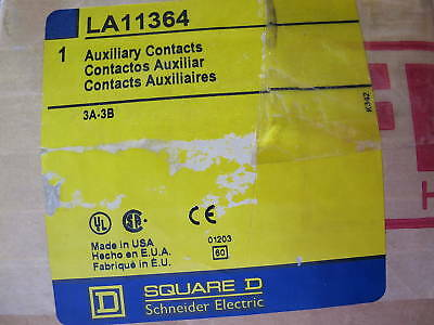 Square D LA11364 Auxiliary Contacts- NEW