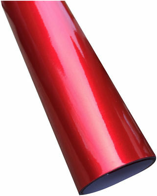 Metallic Red Gloss Vinyl Car Wrap (Air/Bubble Free) 1.52m x 2m