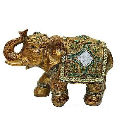 "5"" Feng Shui Elegant Elephant Trunk Statue Lucky Wealth Figurine Decor"