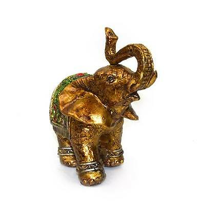 4.5' Feng Shui Elegant Elephant Trunk Statue Lucky Wealth Figurine Decor