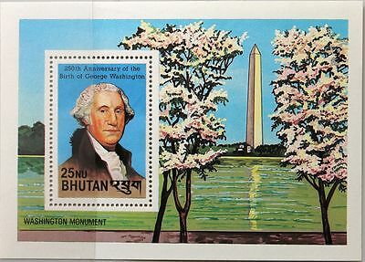 BHUTAN 1982 Block 94-95 A 359-360 Washington F.D. Roosevelt US Presidents MNH