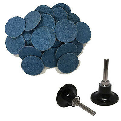"50 2"" Roloc Zirconia Quick Change Sanding Disc40 Grit and Mandrel Disc Holder"