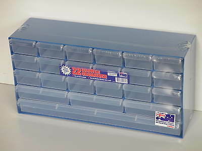 Fischer Plastic Products 22 Drawer Organiser (with clear drawers) 1H-053