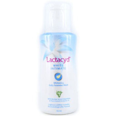 LACTACYD WOMEN FEMALE FEMININE WHITE INTIMATE WHITENING WASH in 4 WEEKS 60ml.
