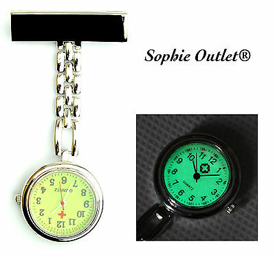 New GID Stainless Steel Luminous Nurse Fob Watch Silver Watches Nurse Watch