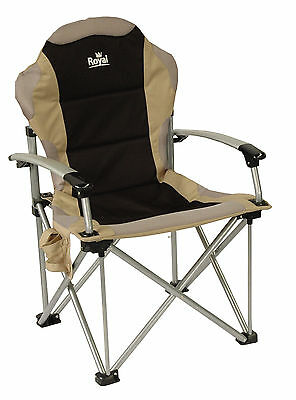ROYAL COMMANDER CHAIR BLACK ideal for CARAVANNING MOTORHOME CAMPING FISHING
