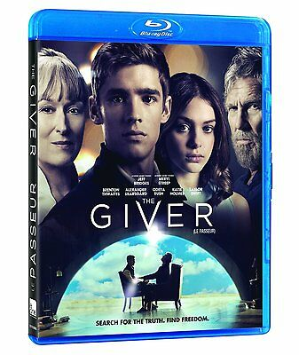 The Giver (Blu-ray, 2014, Canadian, 2 Sided Artwork EN/FR)