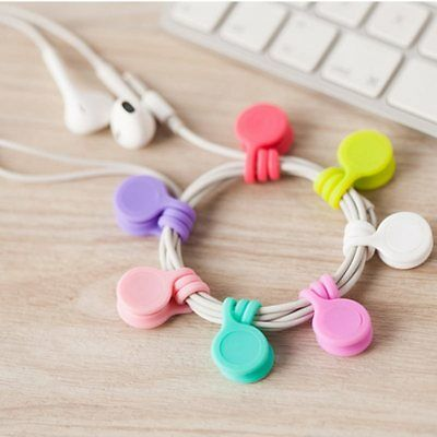 3pcs Magnet-ear Phone Headset Winder Wire Cord Cable Drop Clips Ties Organizer