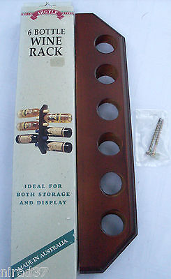 ARGYLE (AUSTRALIAN MADE) WOODEN WINE BOTTLE RACK BOXED Bar Man Cave NEW - In Aus