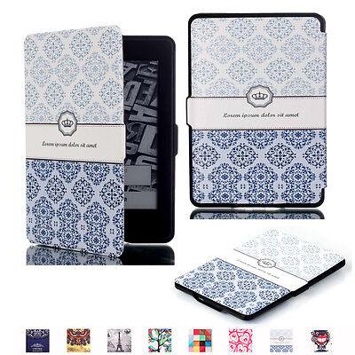 New Slim Magnetic Leather Smart Case Cover for All 6'' Amazon Kindle Paperwhite