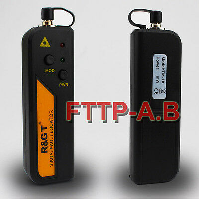 30mW Visual Fault Locator Fiber Optic Laser Cable Tester Test Equipment + A Bag