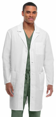 "Code Happy Adult 38"" Long Sleeve Button Front Medical Lab Coat. 36400AB"