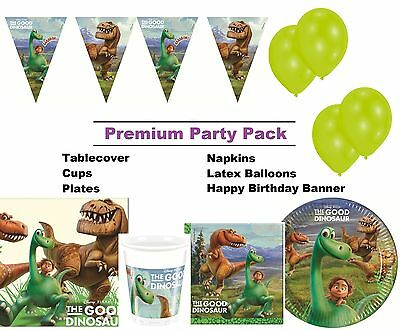The Good Dinosaur 8-48 Guest Premium Party Pack - Tableware | Banner | Balloons