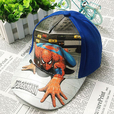 Kids Boys Toddlers Spiderman Sports Baseball Cap Adjustable Hat Costume