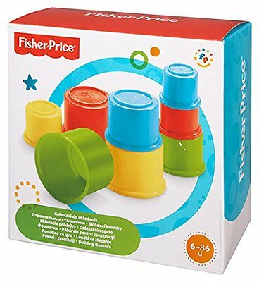 Fisher Price Building Beakers Nesting Cups Blocks Baby Toy Brand New Free P+P