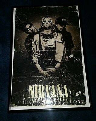 Original Nirvana/Kurt Cobain poster from the early 90's in new frame!