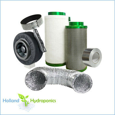 "6"" 150mm hydroponics Filtaroo Carbon Filter Centrifugal Fan Ducting Ventilation"