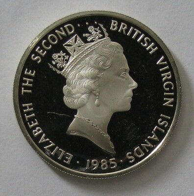 1985 Silver Proof British Virgin Islands $20 Coin - Elizabeth The Second