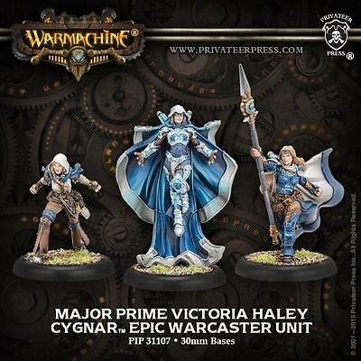 Warmachine Cygnar Major Prime Victoria Haley Epic Warcaster PIP 31107