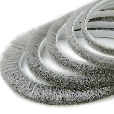 6.9x6mm SEAL BRUSH self-adhesive strip tape draught excluder heat loss reducer