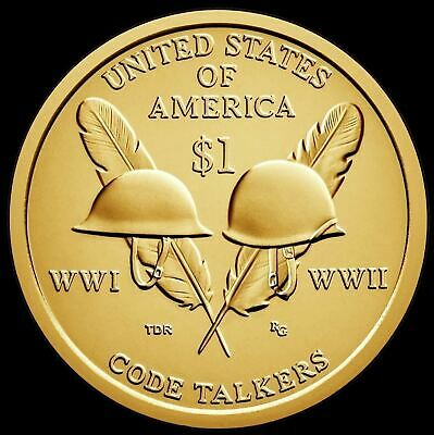 "2016 P Sacagawea Native American Dollar US Mint Coin ""BU"" Code Talker"