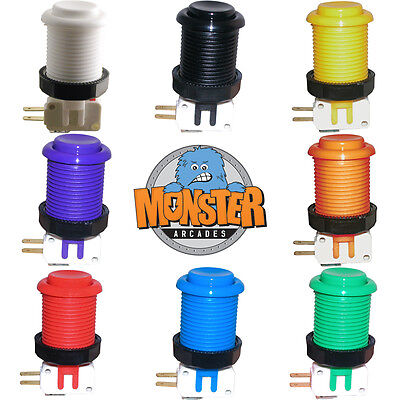 100% Happ Long Arcade Push Button Choose From 8 Colors Mame Jamma Multicade