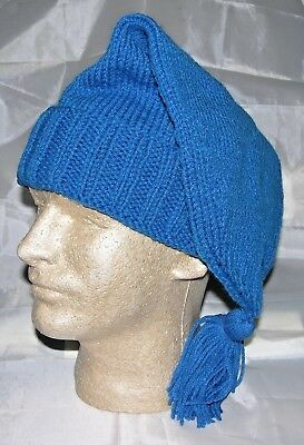 Hand Made Knitted Voyager Hat - Blue - Rendezvous - Trapper-Reenactor -NEW