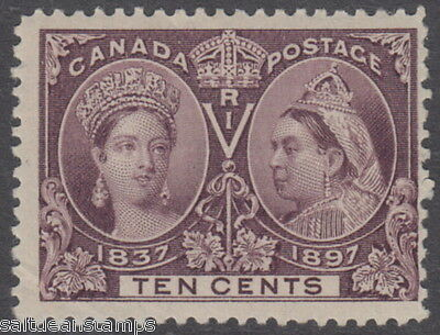 CANADA - 1897 Jubilee Issue 10c. Purple - MM / MH